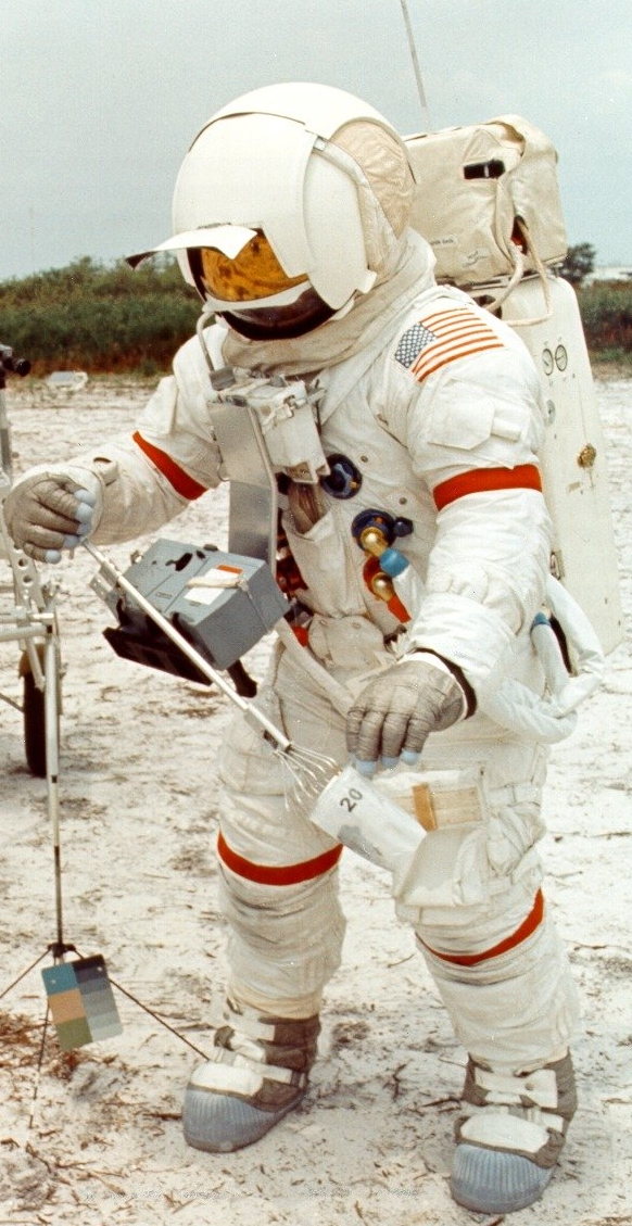Astronaut Alan Shepard during LGEC training